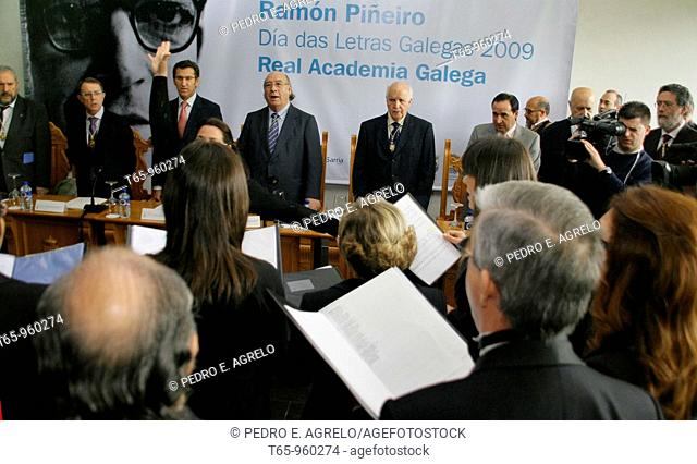 Dia das Letras Galegas dedicated to Ramon Piñeiro, Lancara, Lugo province, Galicia, Spain (May 17th, 2009)