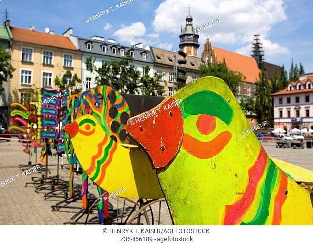 Poland Krakow Wolnica Square, Kazimierz district