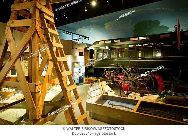 Kansas Museum of History. Transportation Gallery. Topeka. Kansas. USA