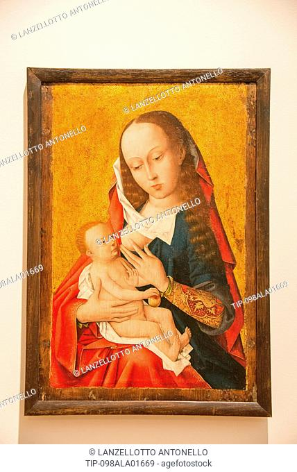 Europe, Portugal, Lisbon, Estrela, National Museum of Ancient Art, Virgin and Child, Unknown Netherlandisch Master