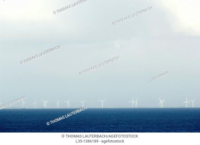Large wind turbine of Sylt, Germany, offshore
