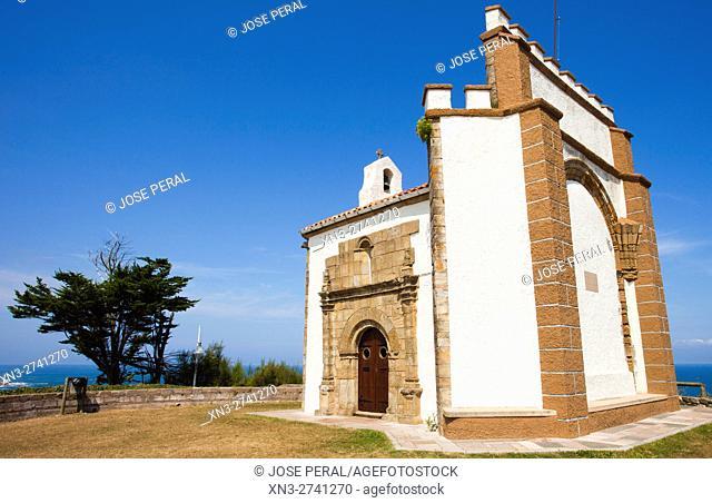 Chapel of Our Lady of Guide, Ermita de la Virgen de la Guía, Ribadesella city, Asturias, Spain, Europe