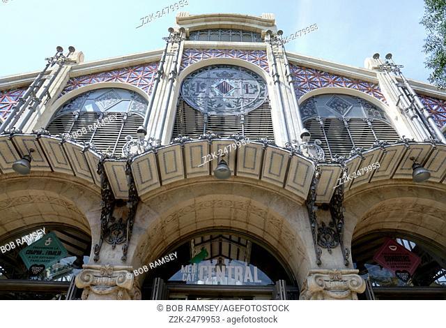 Mercado Central entrance in Valencia, Spain