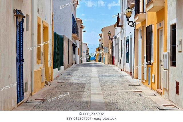 Street view in Tabarca, Alicante