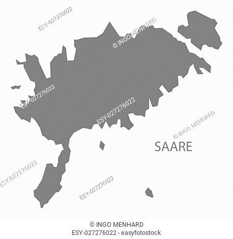 Saare Estonia Map in grey
