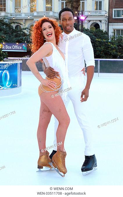 Dancing On Ice 2018 photocall at the Natural History Museum Ice Rink Featuring: Lemar, Melody Le Moal Where: London, United Kingdom When: 19 Dec 2017 Credit:...