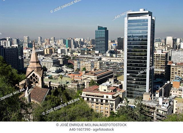 Santiago de Chile city. View of City Center