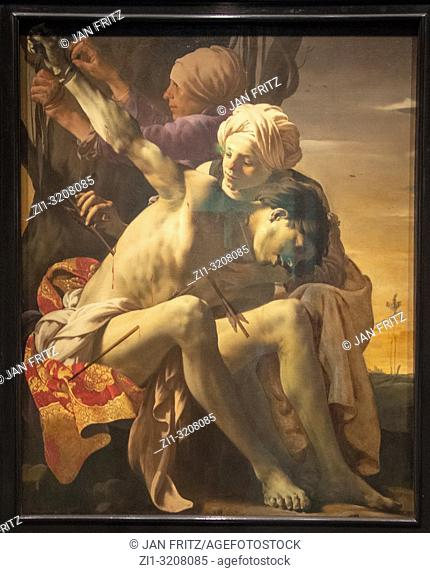Saint Sebastian tended by Irene from Hendrick ter Brugghen