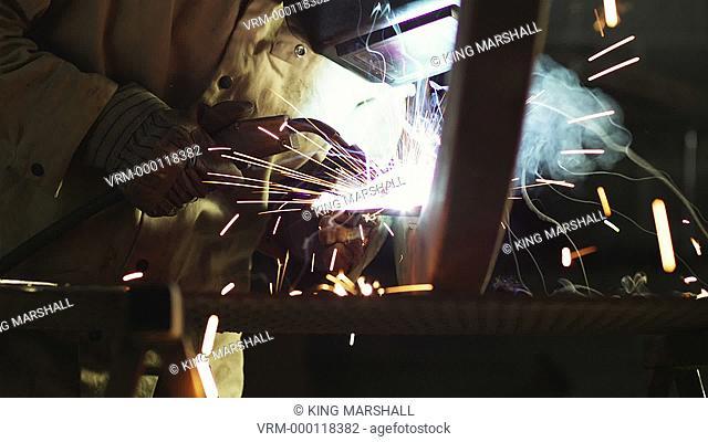 MS TU Welder at work / Orem, Utah, USA
