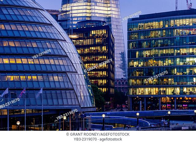 City Hall (London Assembly Building) and The More London Office Development, London, England