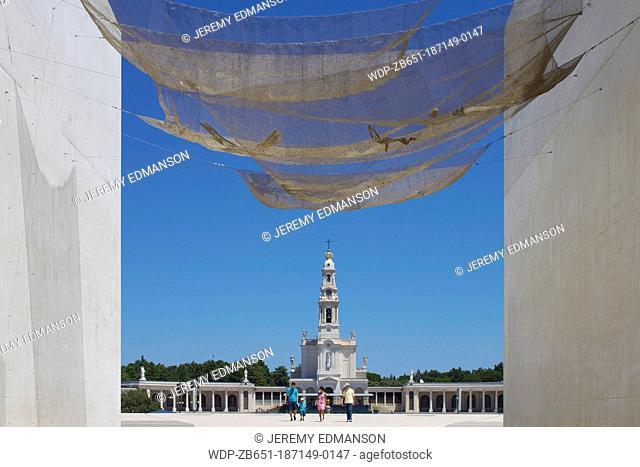 Basilica, from new church, Fatima, Portugal