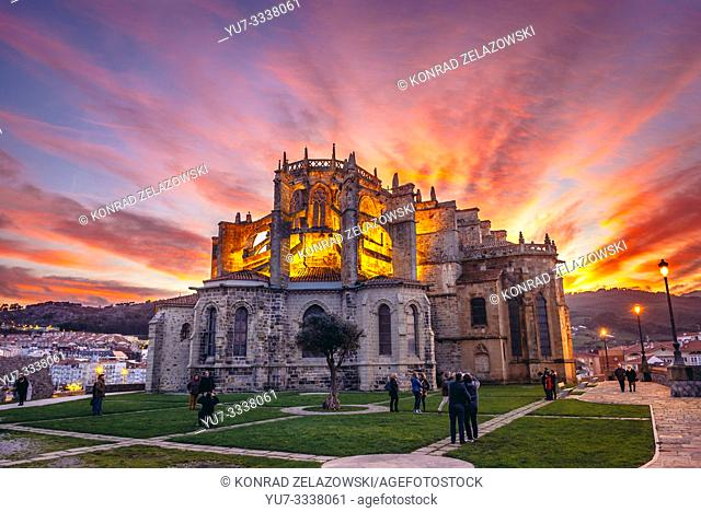 Church of Santa Maria de la Asuncion in Castro Urdiales seaport in Cantabria region of Spain
