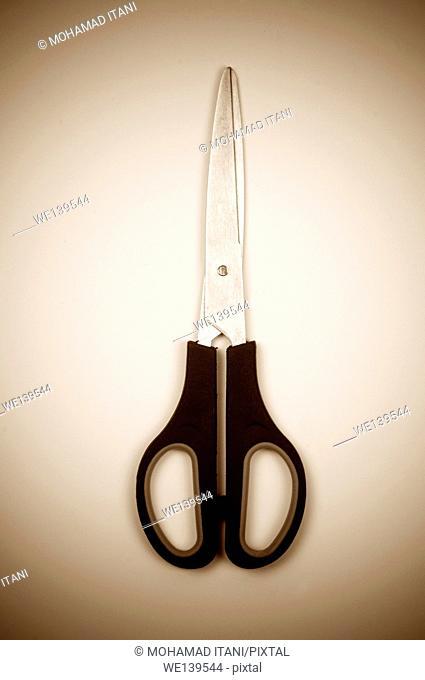 Sepia toned pair of scissors