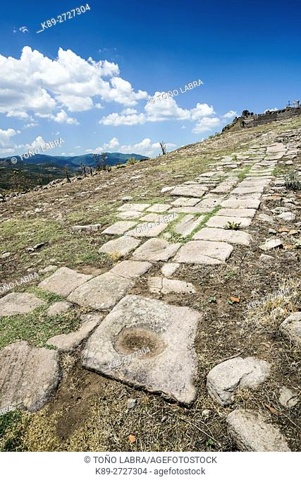 Pergamon Main Road. Ancient Greece. Asia Minor. Turkey