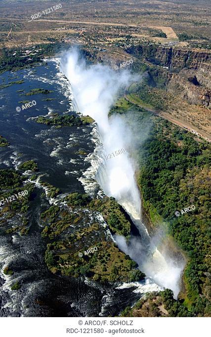 Zambesi river, Victoria falls, Zambia and Zimbabwe