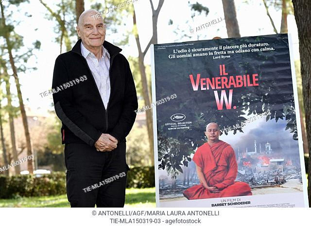 Director Barbet Schroeder presents his film Le vénérable W. at the Casa del Cinema in Rome. Italy 15-03-2019