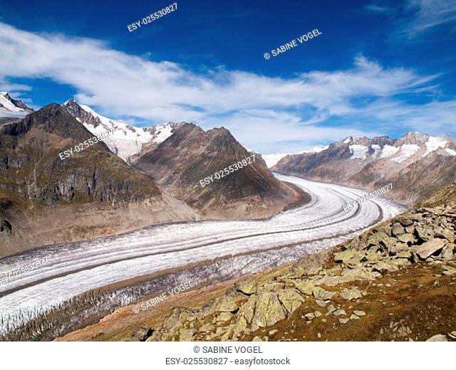 views of the great aletsch glacier