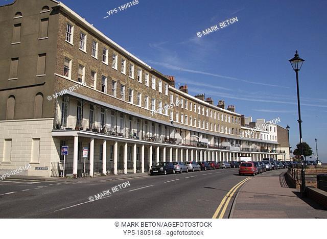 Terraced flats Wellington Crescent Ramsgate Kent