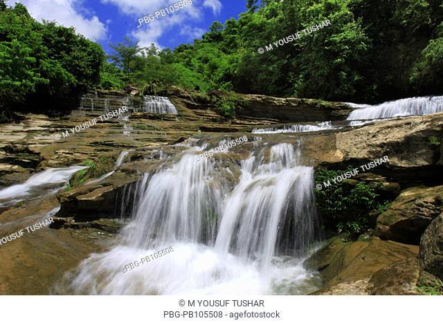 The waterfalls at Sitakund Eco-park in Chittagong The Sitakund Botanical Garden and Eco-park was established, under a five year 2000-2004 development project