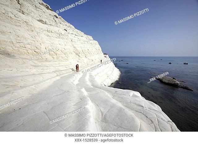Scala dei Turchi Turkish staircase, the white reef in Realmonte, Sicily, Italy