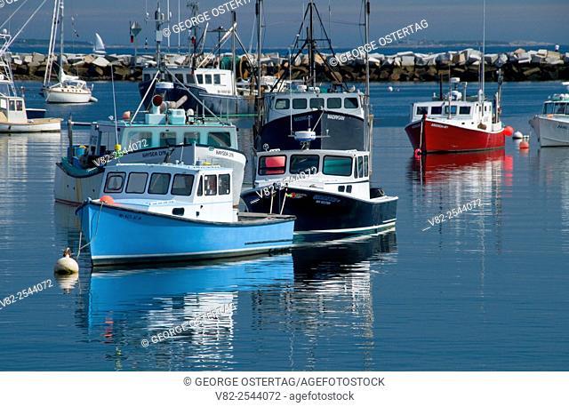 Harbor boats, Rye Harbor, New Hampshire
