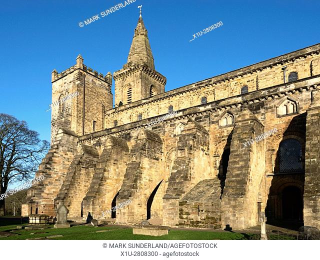 The Exterior of the Romanesque Nave at Dunfermline Abbey Dunfermline Fife Scotland