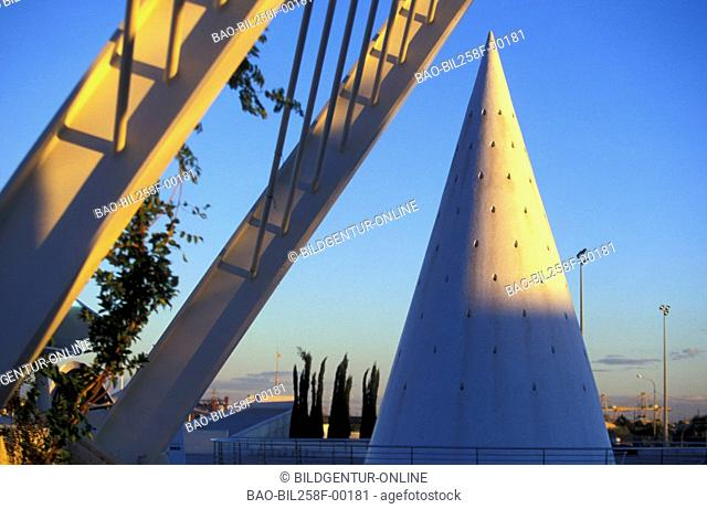 The city of Arts and Science in Neutown of Valencia, Spain