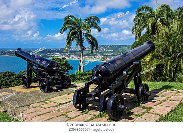 Canon On The High Ground Fort King George Tobago West Indies
