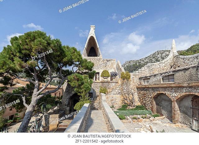 Garraf, Sitges, Catalonia, Spain.Celler Guell by Antoni Gaudi