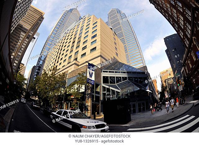 Intersection in downtown, Philadelphia,Pennsylvania, PA, USA