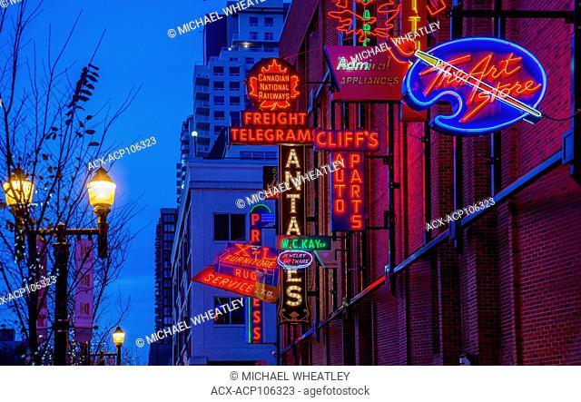 Neon sign museum, Edmonton, Alberta, Canada