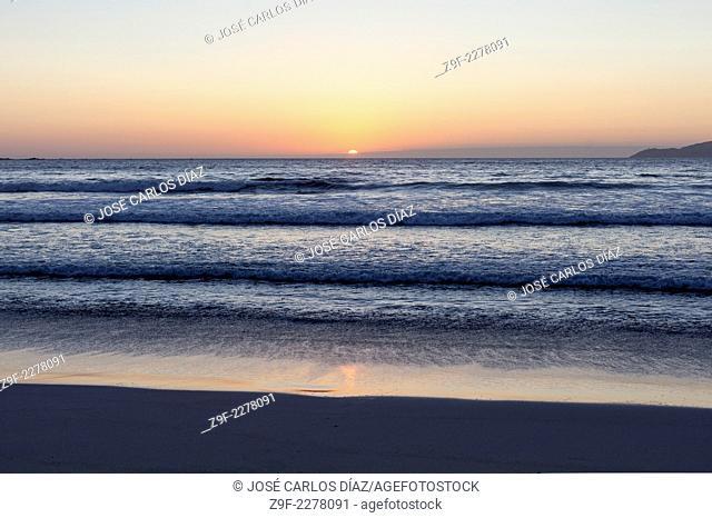 Sunset, Carnota beach, A Coruña, Galicia