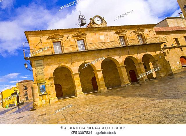Palace of Audiencia, Main Square, Street Scene, Tipycal Architecture, Old Town, Soria, Castilla y León, Spain, Europe