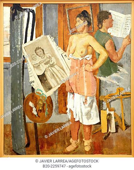 Interno di mattina, 1931. Fausto Pirandello. Centre George Pompidou. Musee National d'Art Moderne. Paris. France