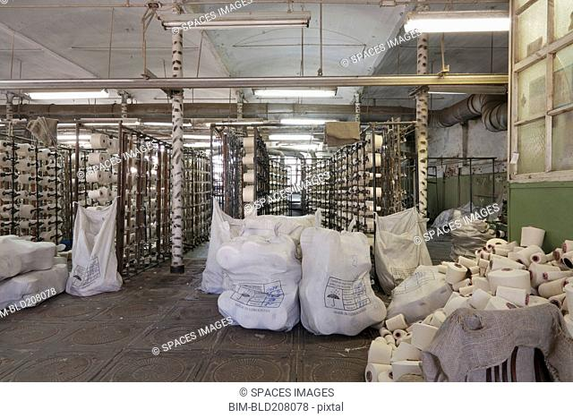 Equipment in textile factory