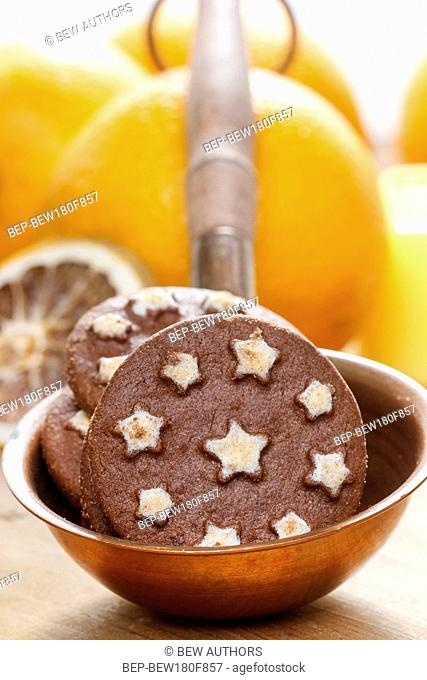 Round chocolate cookies