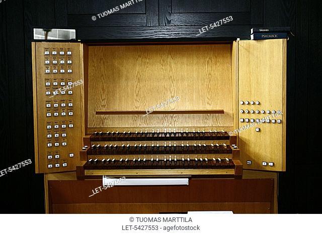 Organ in Tapiola church in Espoo, Finland