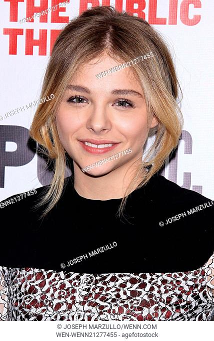 Opening night after party for The Library at the Public Theater - Arrivals. Featuring: Chloe Grace Moretz Where: New York, New York