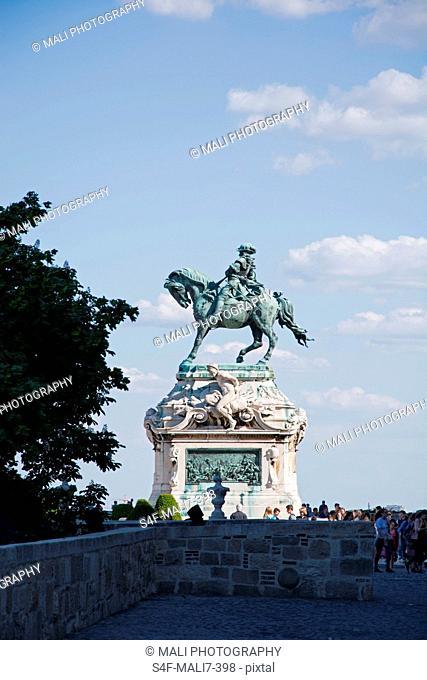 Ungarn, Budapest, Reiterstandbild Prinz Eugens