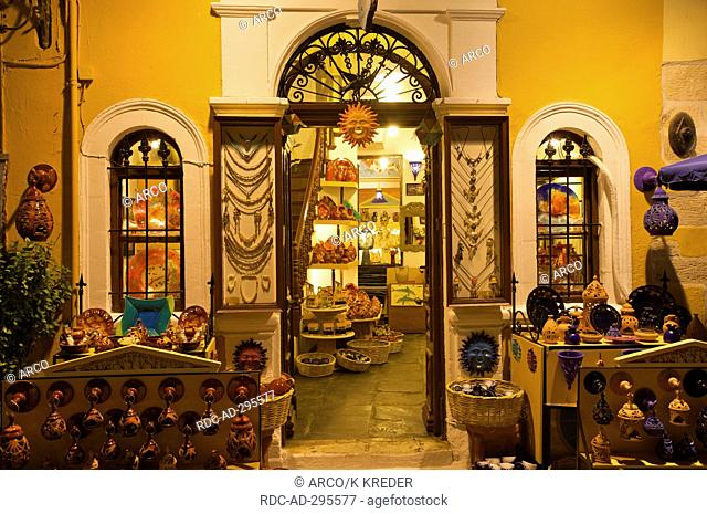 Tavern in the Old Town of Chania, Crete, Greece