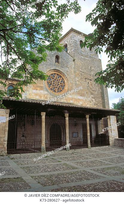 Collegiate church of San Cosme y San Damian (15th Century). Covarrubias. Burgos province. Castilla y Leon. Spain