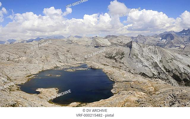 Time-lapse of clouds over the mountains and Moose Lake in Sequoia National Forest