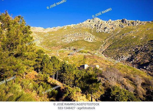 The Peluca cliff in the Sierra de Gredos  Ávila  Castilla León  Spain