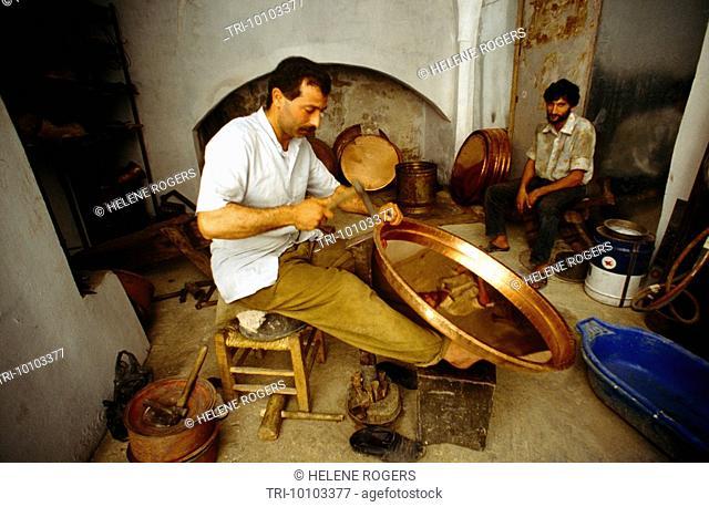 Tripoli Lebanon Souk Al Harej Copper Making