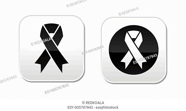 Vector set of ribbons symbols for breast cancer awareness