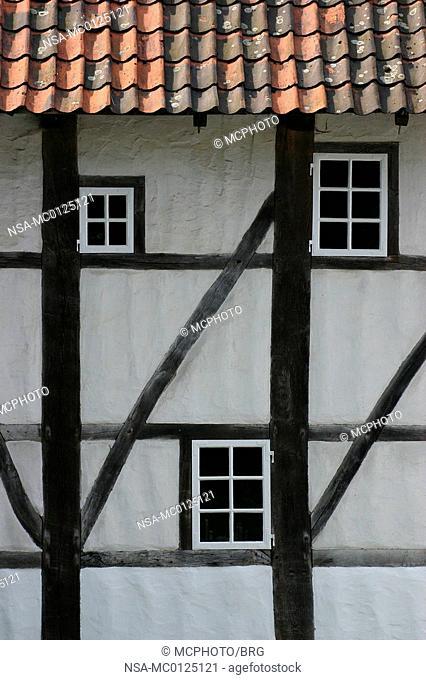 Timbered facade