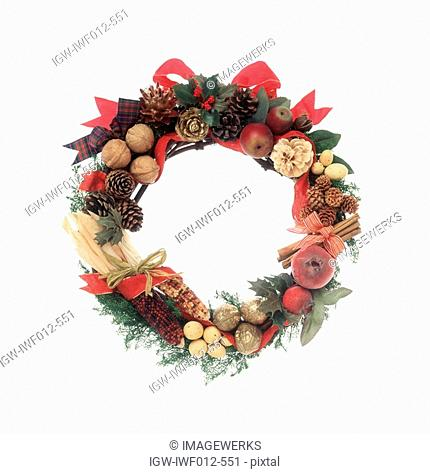Close-up of a beautiful wreath