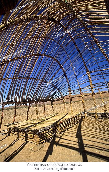 structure of tuareg nomadic hut in Aïr,Niger,Western Africa