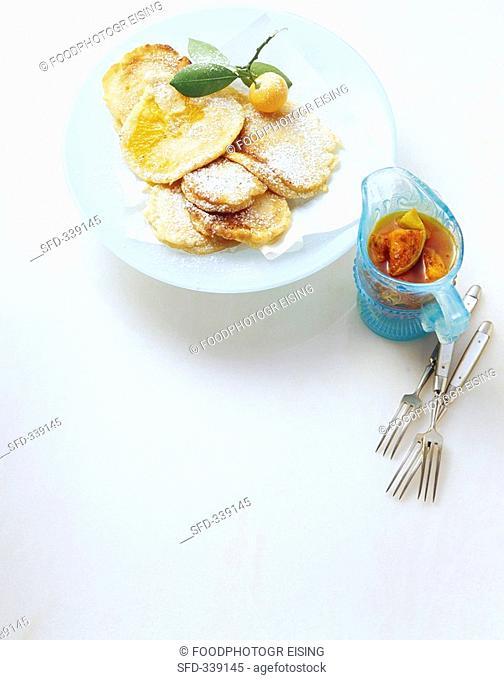 Frittelle di arance orange fritters, Sicily, Italy