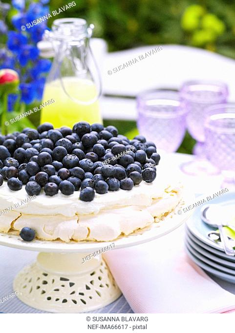 Gateau with blueberries, Sweden